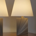 Straw marquetry lamp