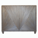 After Jean-Michel Frank, A straw marquetry cabinet