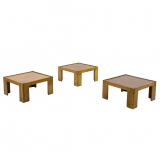 Afra & Tobia Scarpa, A set of three low tables