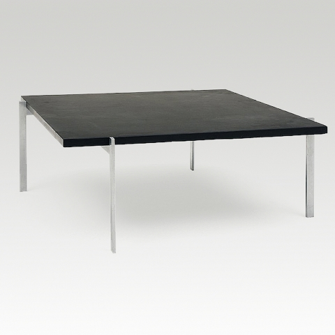 Poul kjaerholm pk61 coffee table with a slate top for Coffee tables 80cm wide