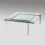 Poul Kjaerholm, PK61, Coffee table with a glass top
